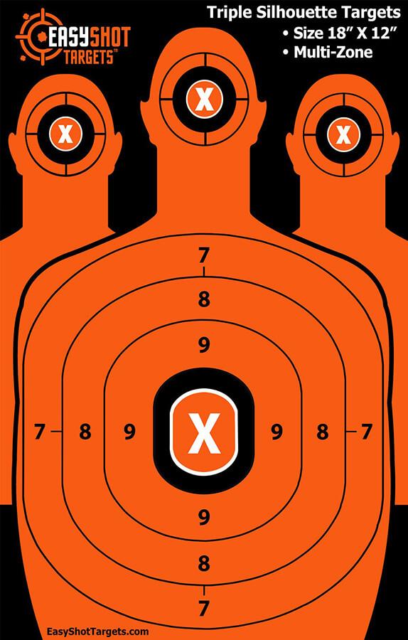 EasyShot Targets Triple Silhouette Targets