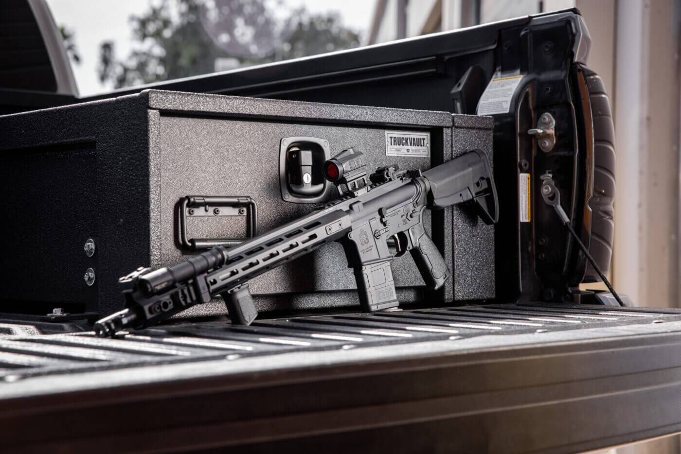 All Weather TruckVault with SAINT Rifle