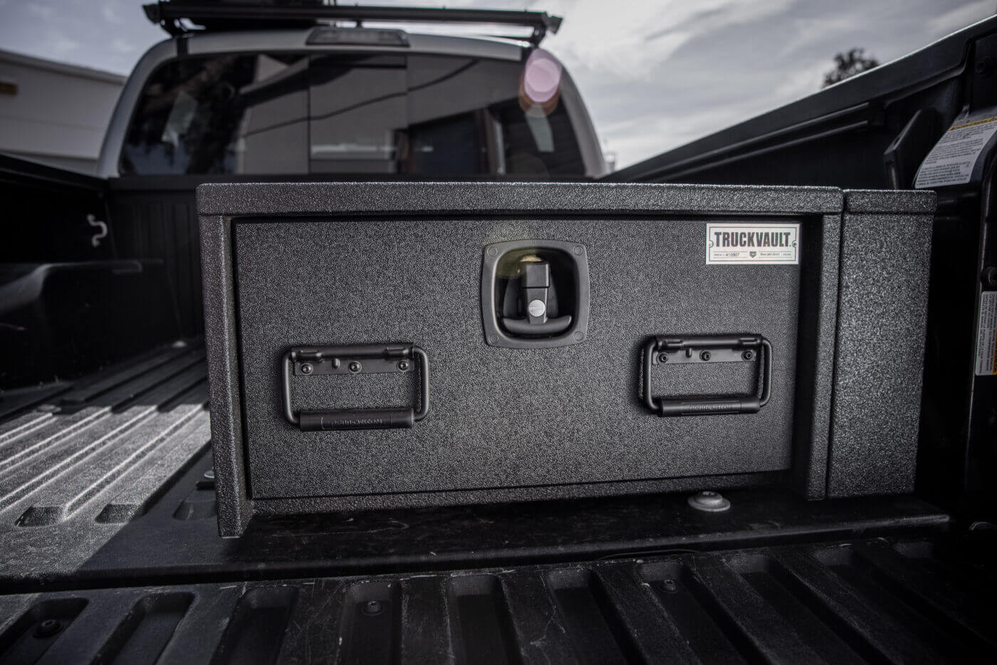 All-Weather Truck Vault installed