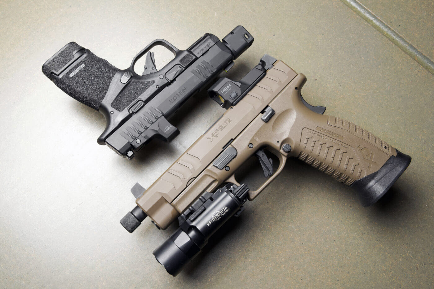 Springfield Armory pistols with HEX red dots