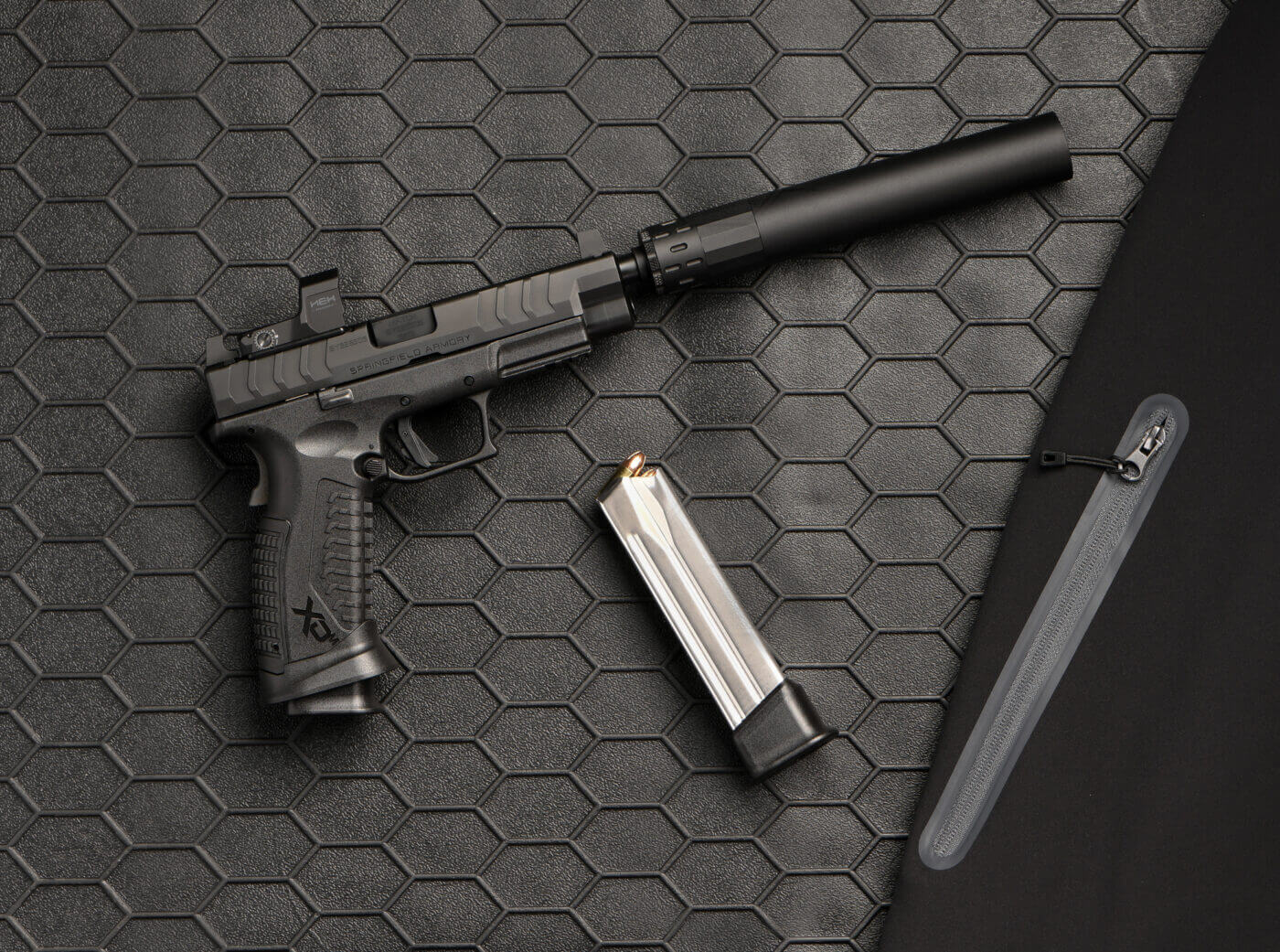 Springfield Armory XD-M Elite OSP pistol with HEX Dragonfly optic
