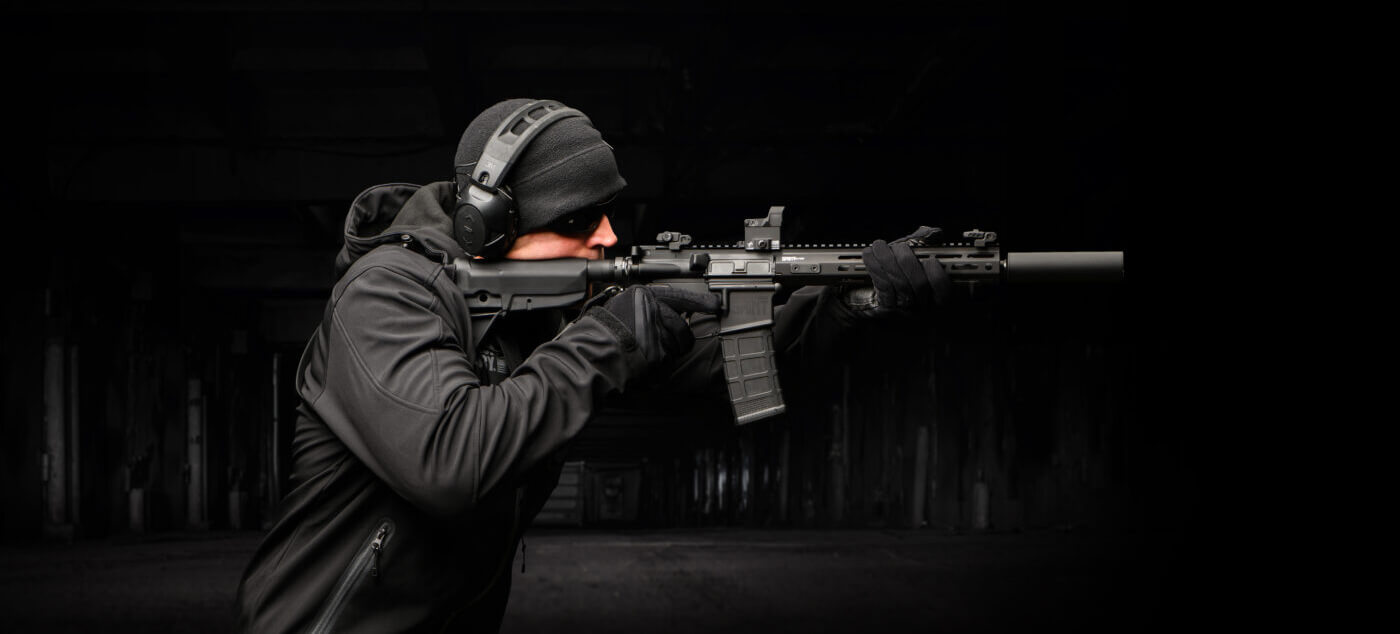 HEX Dragonfly red dot sight on Springfield Armory SAINT AR-15 rifle