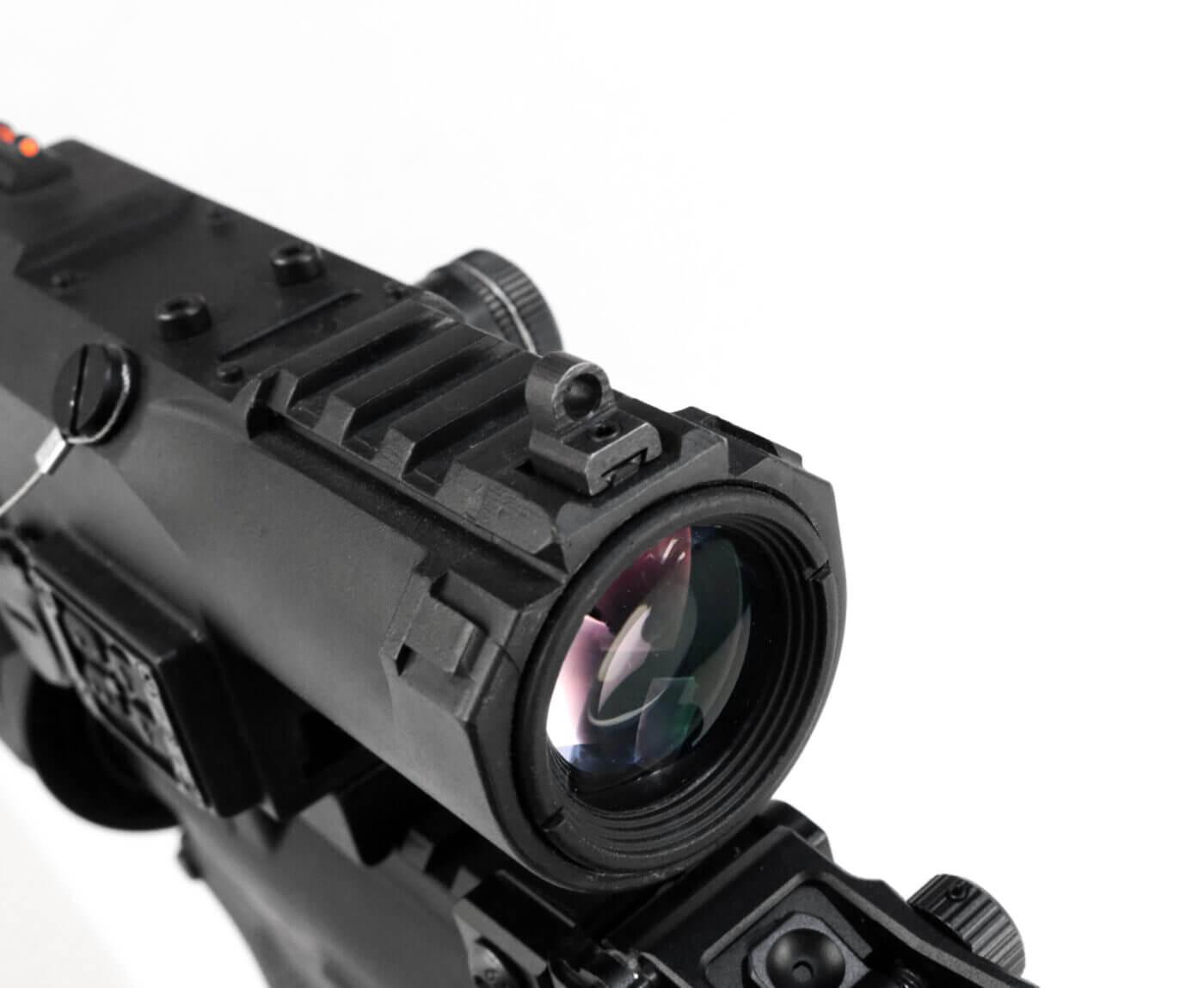 Back up sights on NcSTAR VISM ECO MOD2 scope