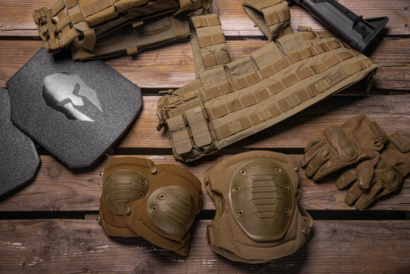 Elbow and knee pads as body armor
