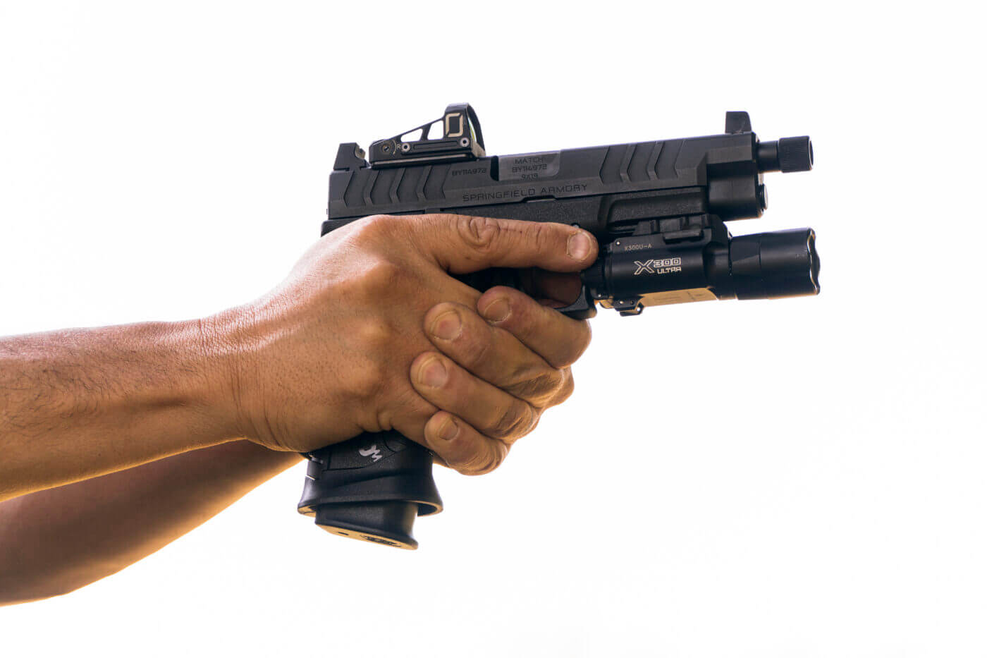 Surefire X300U-A on Springfield Armory pistol