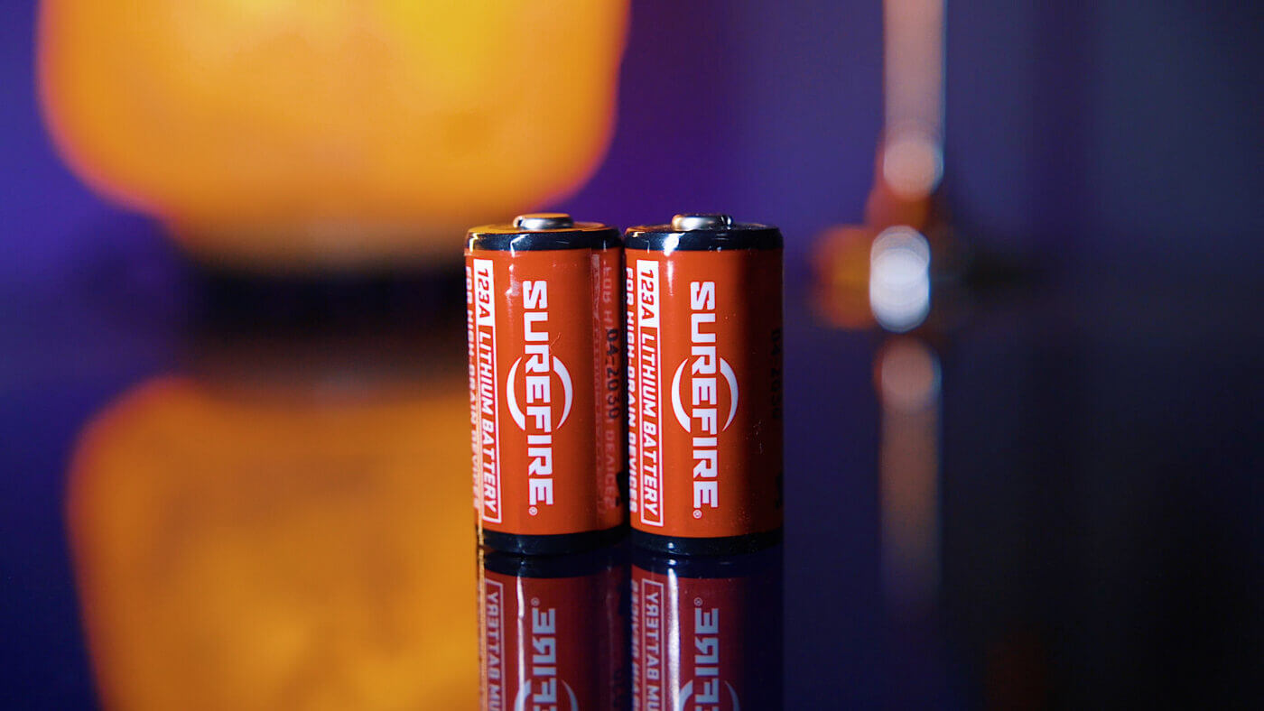 Surefire CR123A batteries