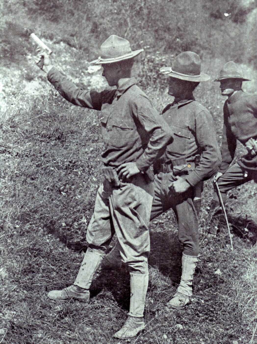 WWI pistol training in the US Army