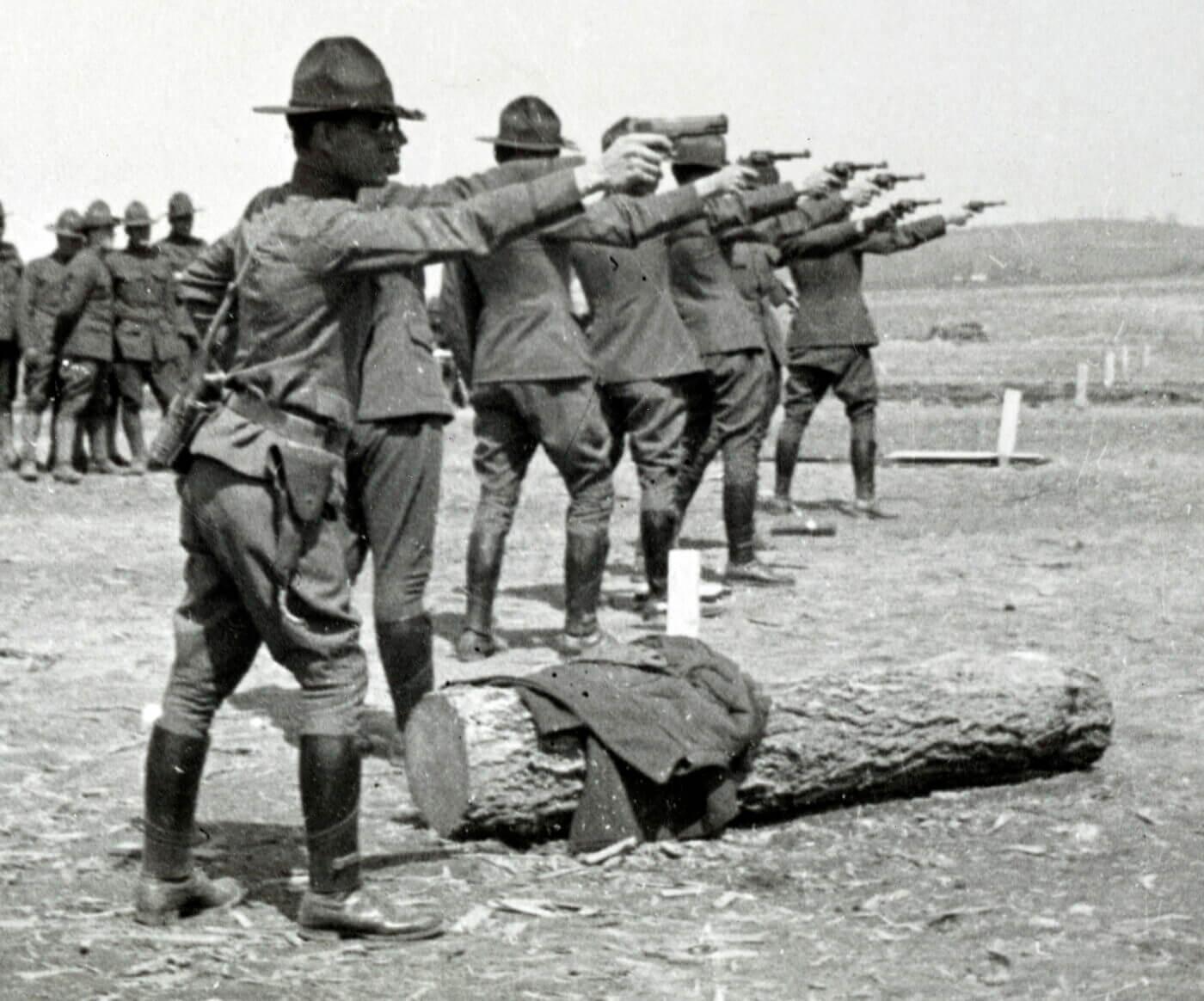 Firearm training in WWI