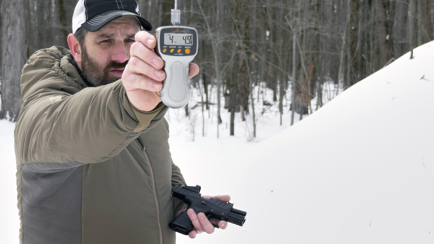 Measuring custom trigger weight on the XD-M Elite