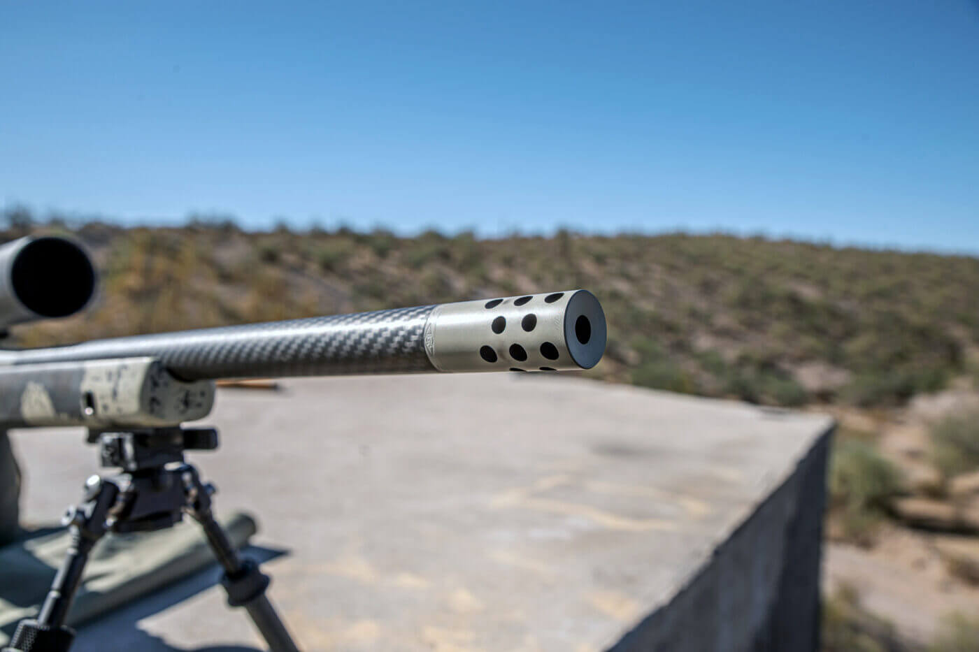 Radial muzzle brake on the Springfield Armory Model 2020 Waypoint rifle