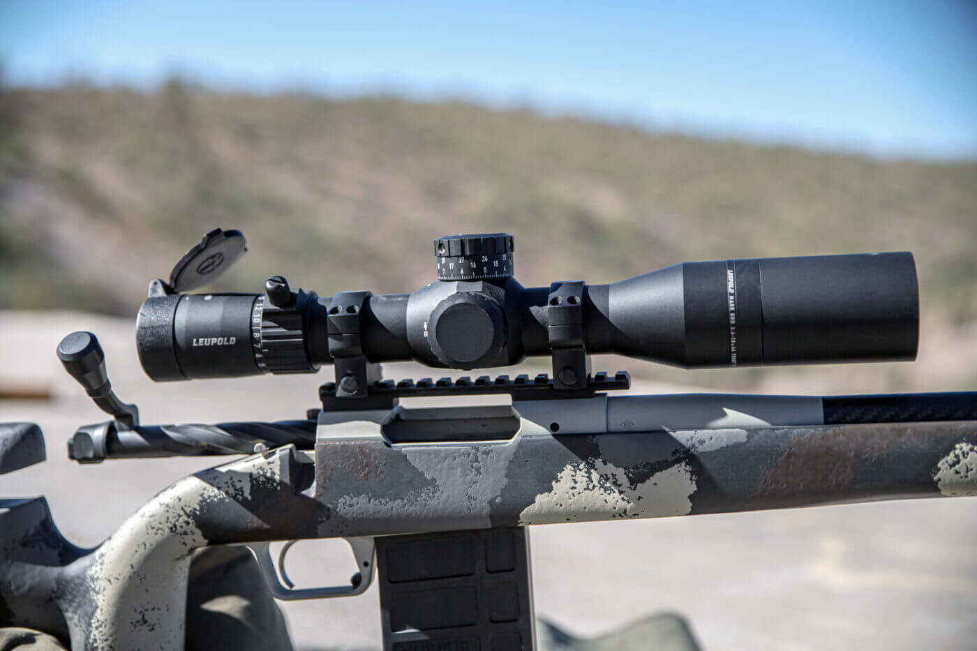 Leupold Mark 5HD 3.6-18x44 scope mounted to a Waypoint