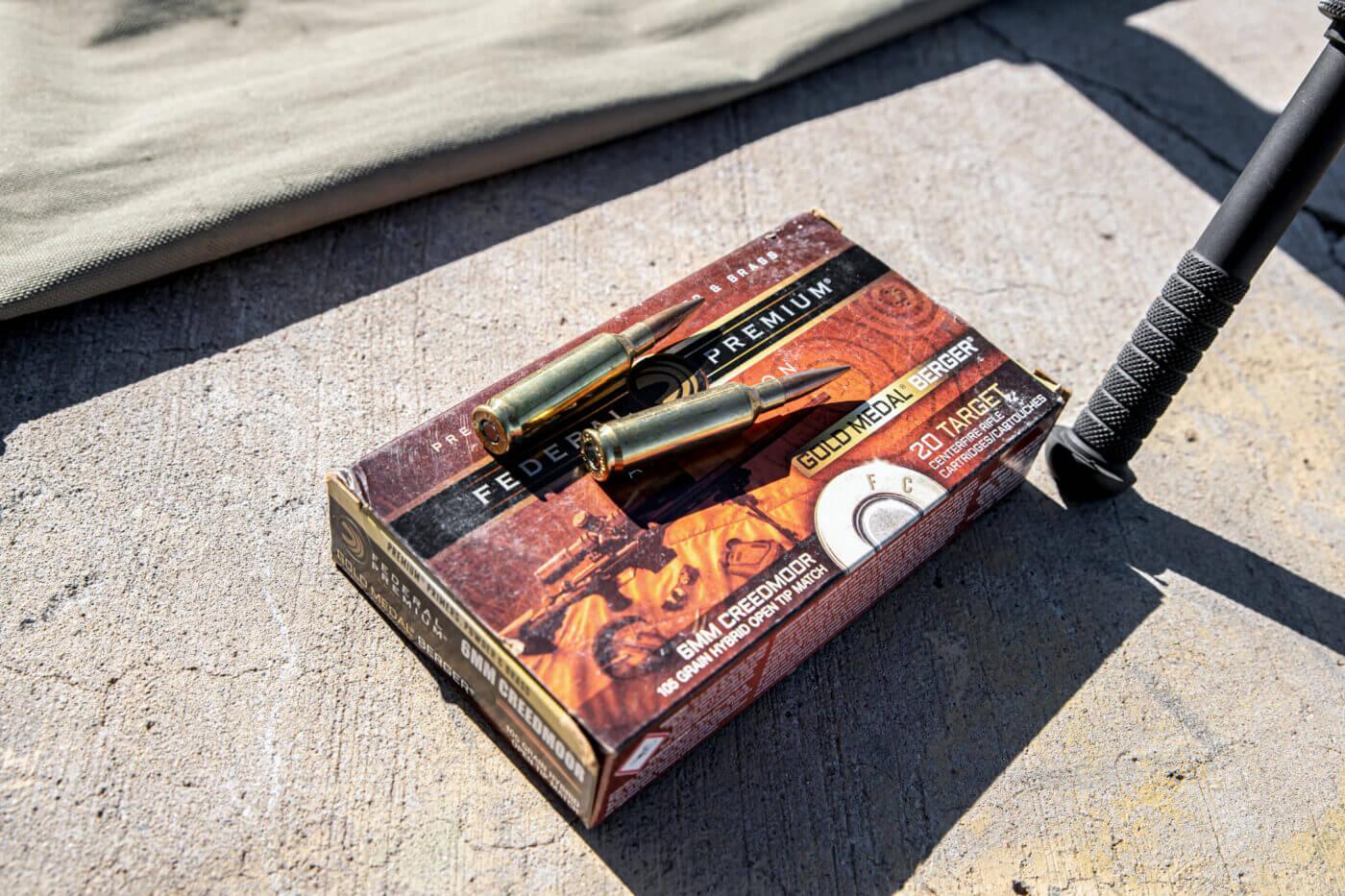 Federal 105-gr. Gold Medal Berger 6mm Creedmoor ammo