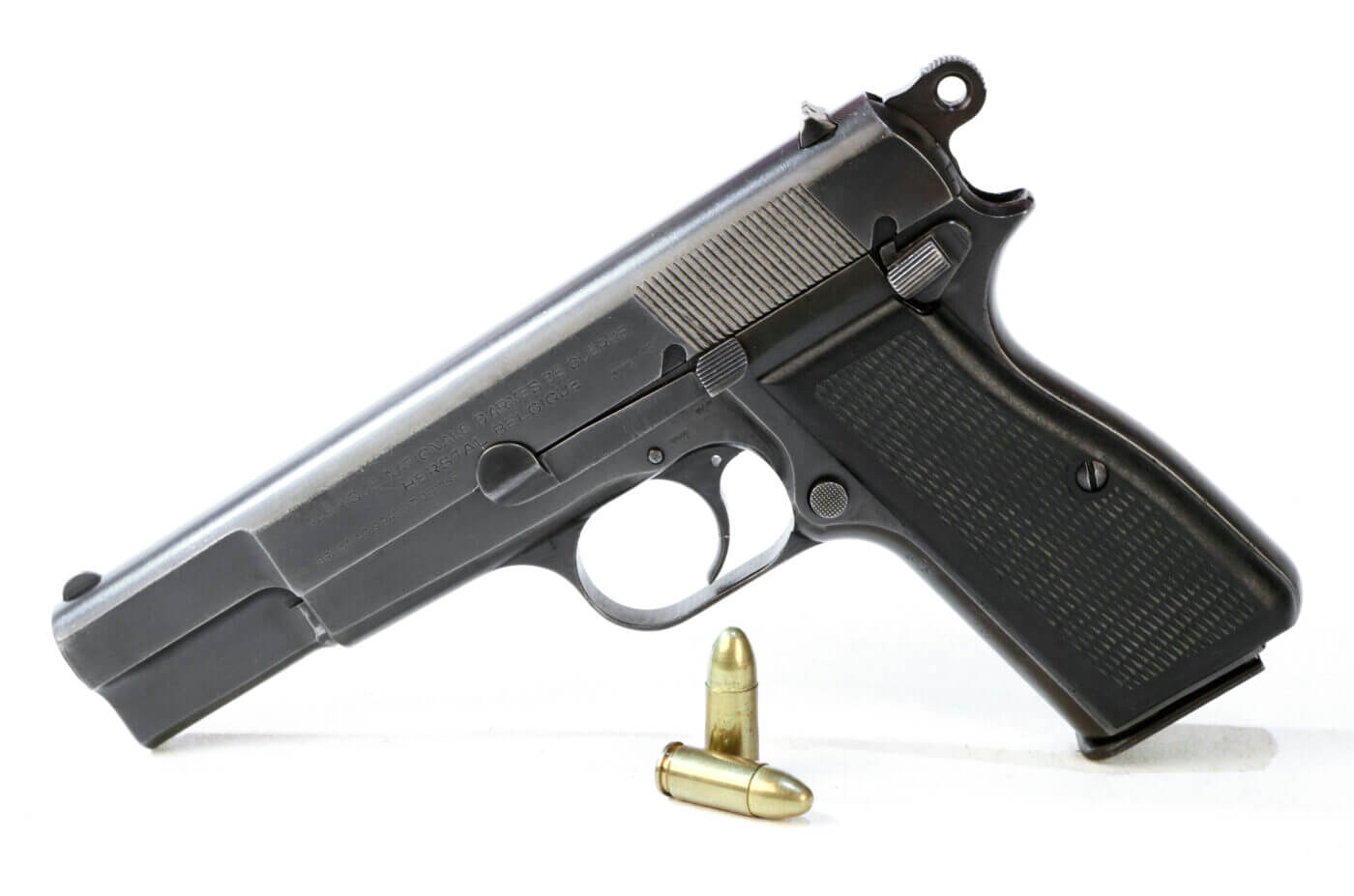 Browning's Hi-Power left side view
