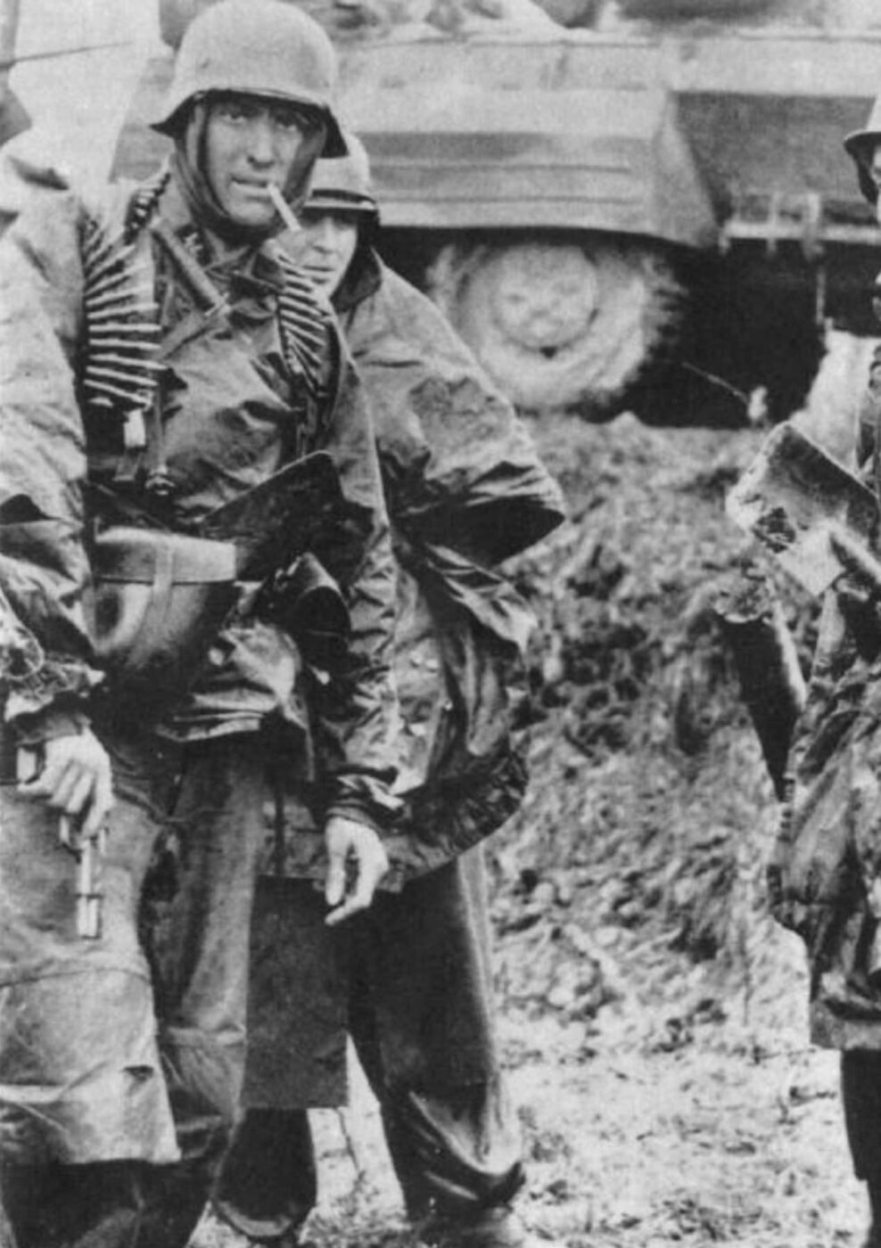 Waffen SS soldier with FN Hi-Power Pistol in WWII