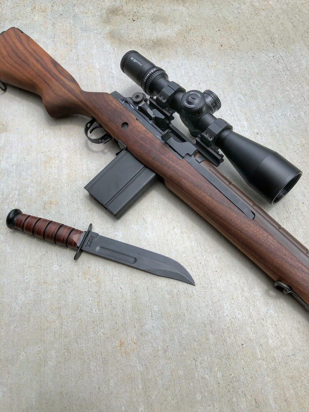 M1A Loaded with mounted scope