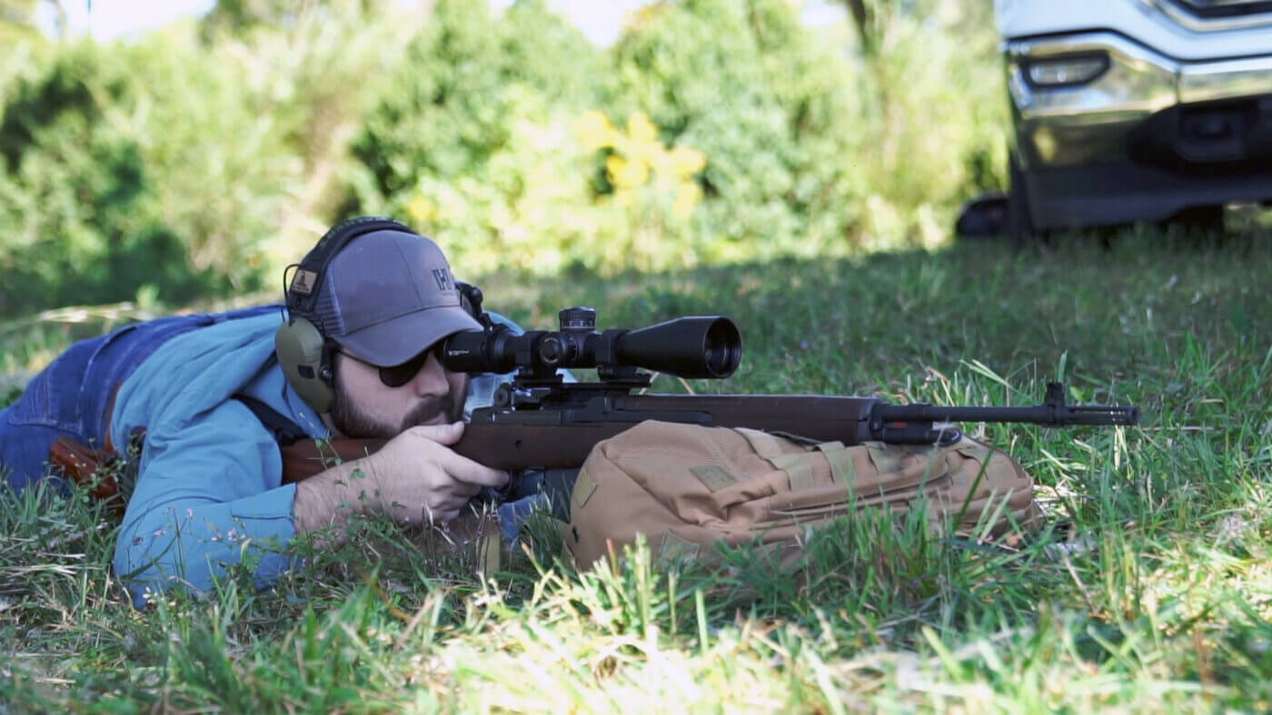 Shooting the M1A Loaded from a prone position