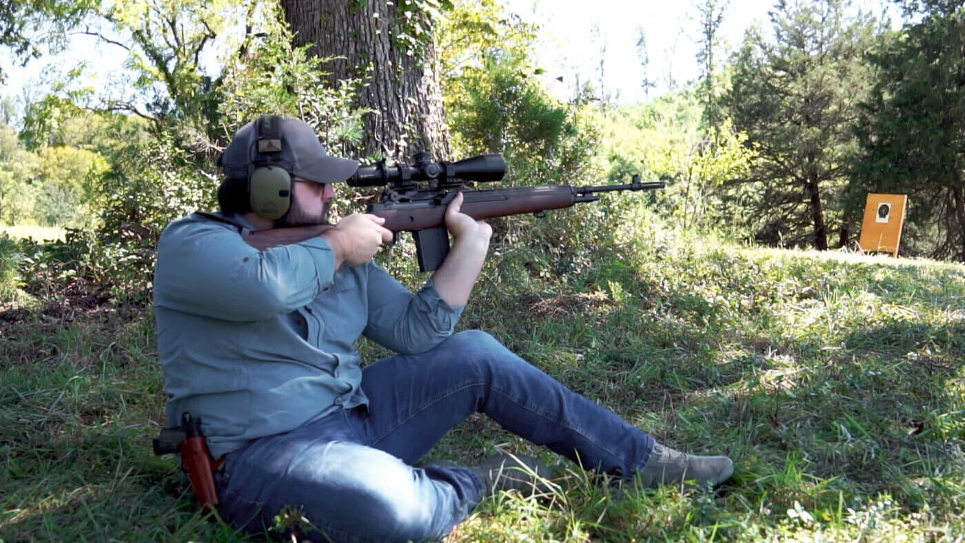 Shooting steel with the M1A Loaded rifle