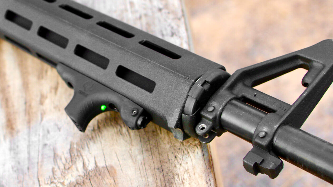 Close up of the Viridian HS1 laser handstop