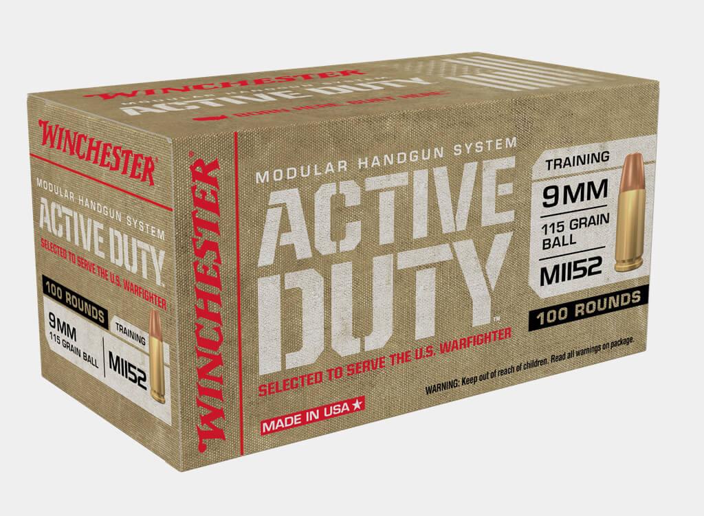 Winchester Active Duty 9mm, 115 Grain