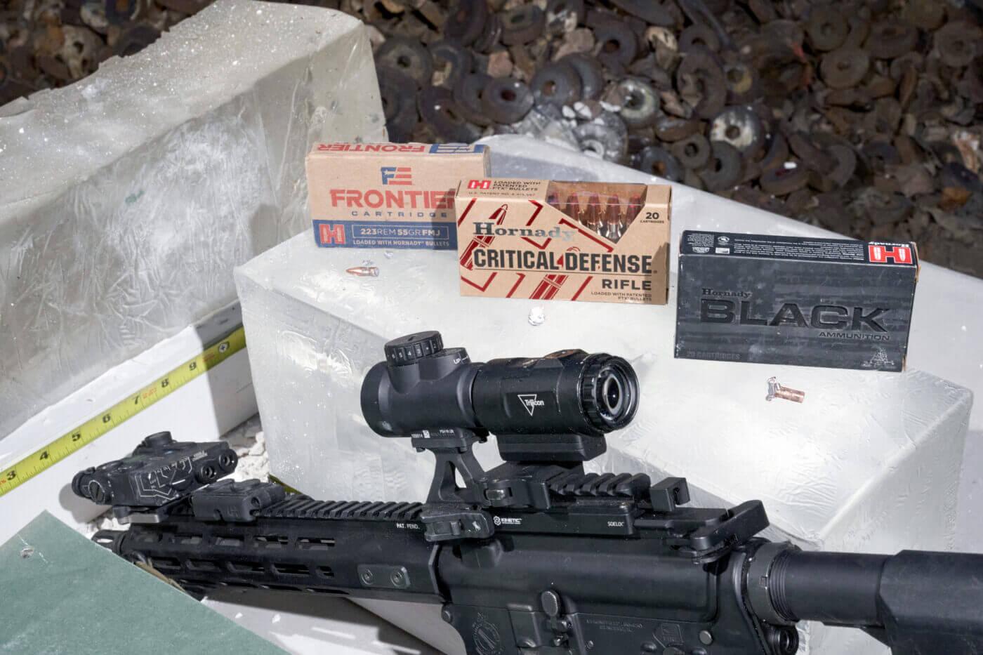 Penetration testing Hornady AR-15 ammo