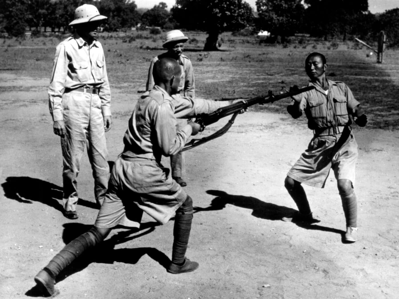 Chinese troops training with M1917 in WWII