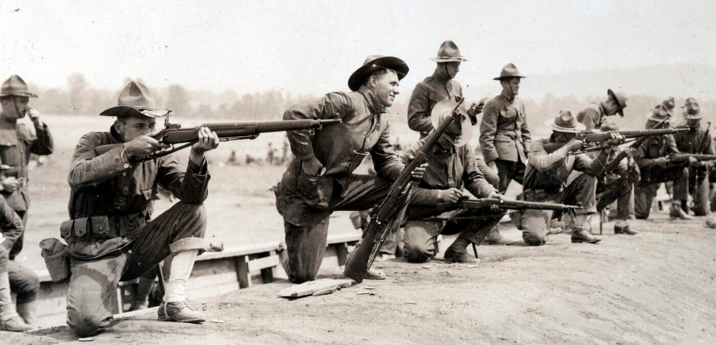 Soldiers training with M1917