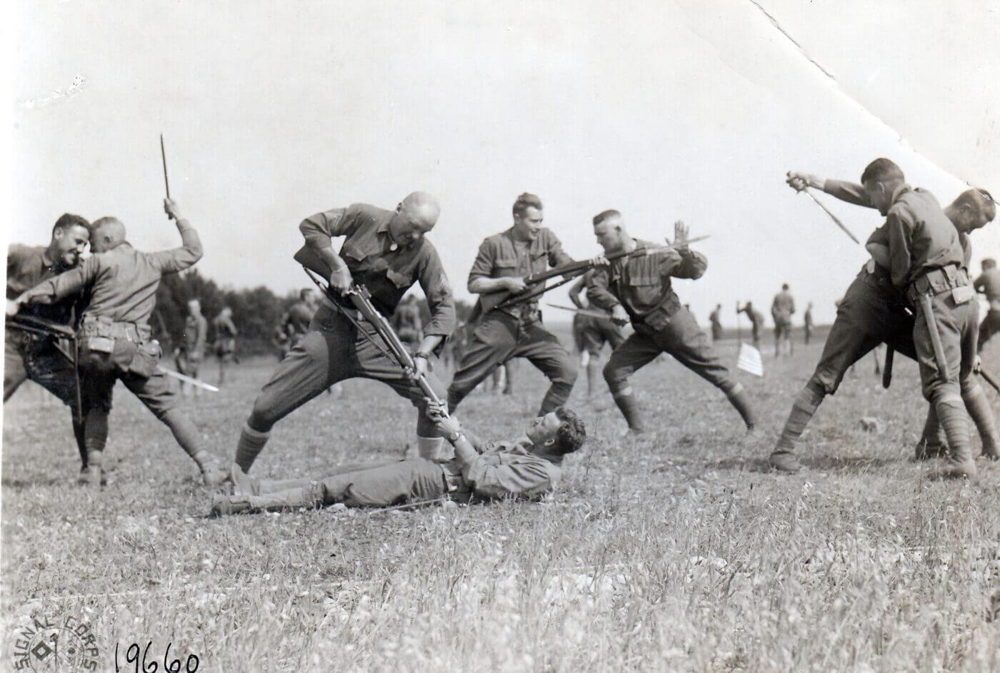 Bayonet training during WWI