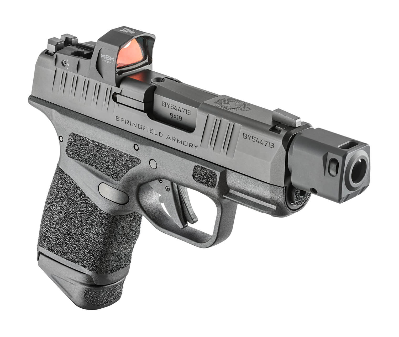 Hellcat RDP pistol with compensator