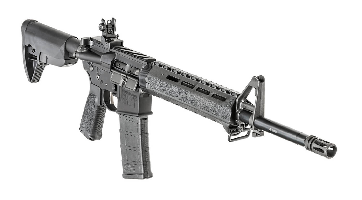 Springfield Armory SAINT rifle with a flash hider