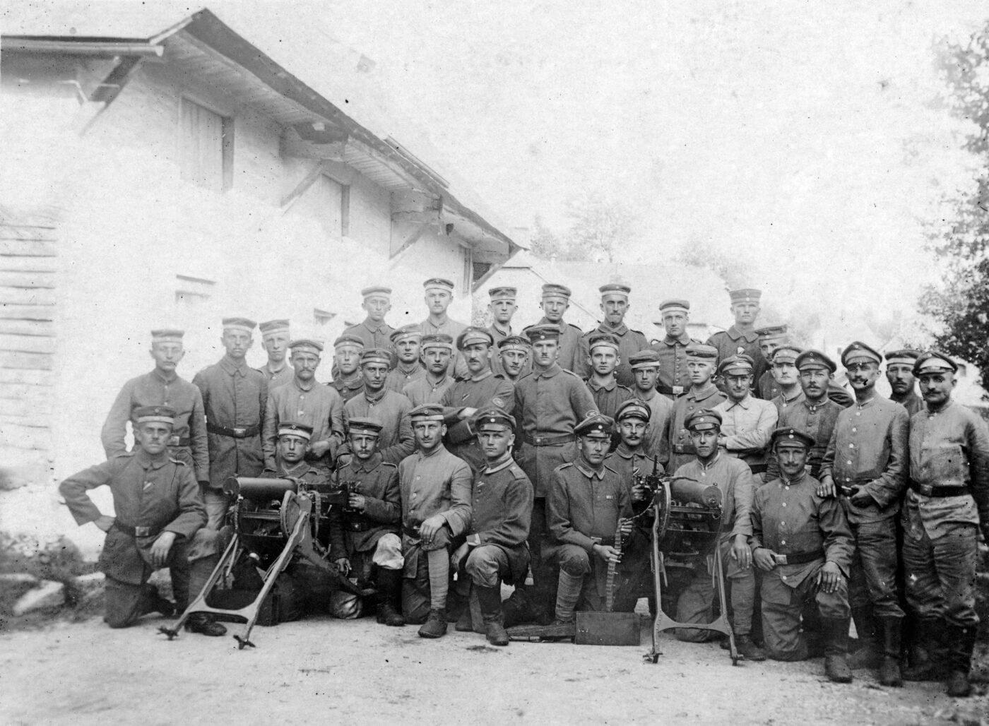 German troops training in WWI