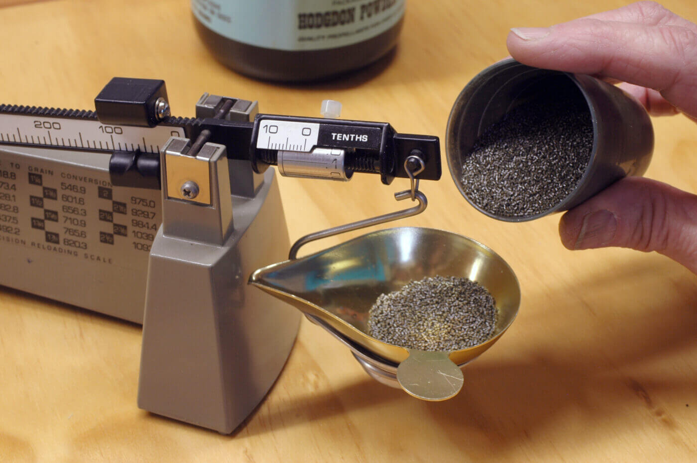 Weighing powder charges