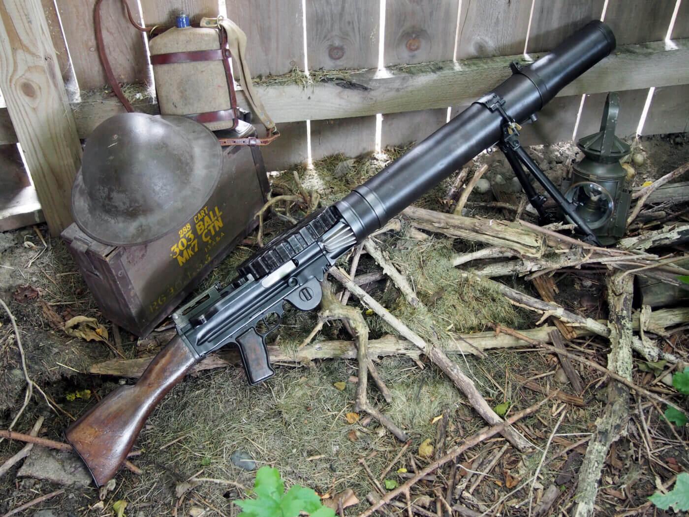 Lewis Gun used in trench warfare
