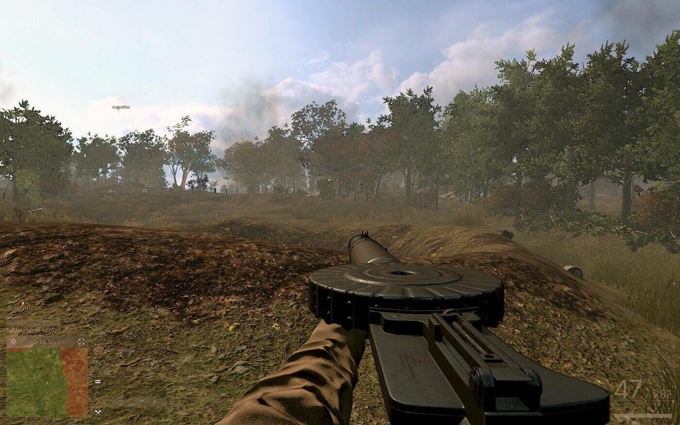 Lewis Gun in video game Verdun