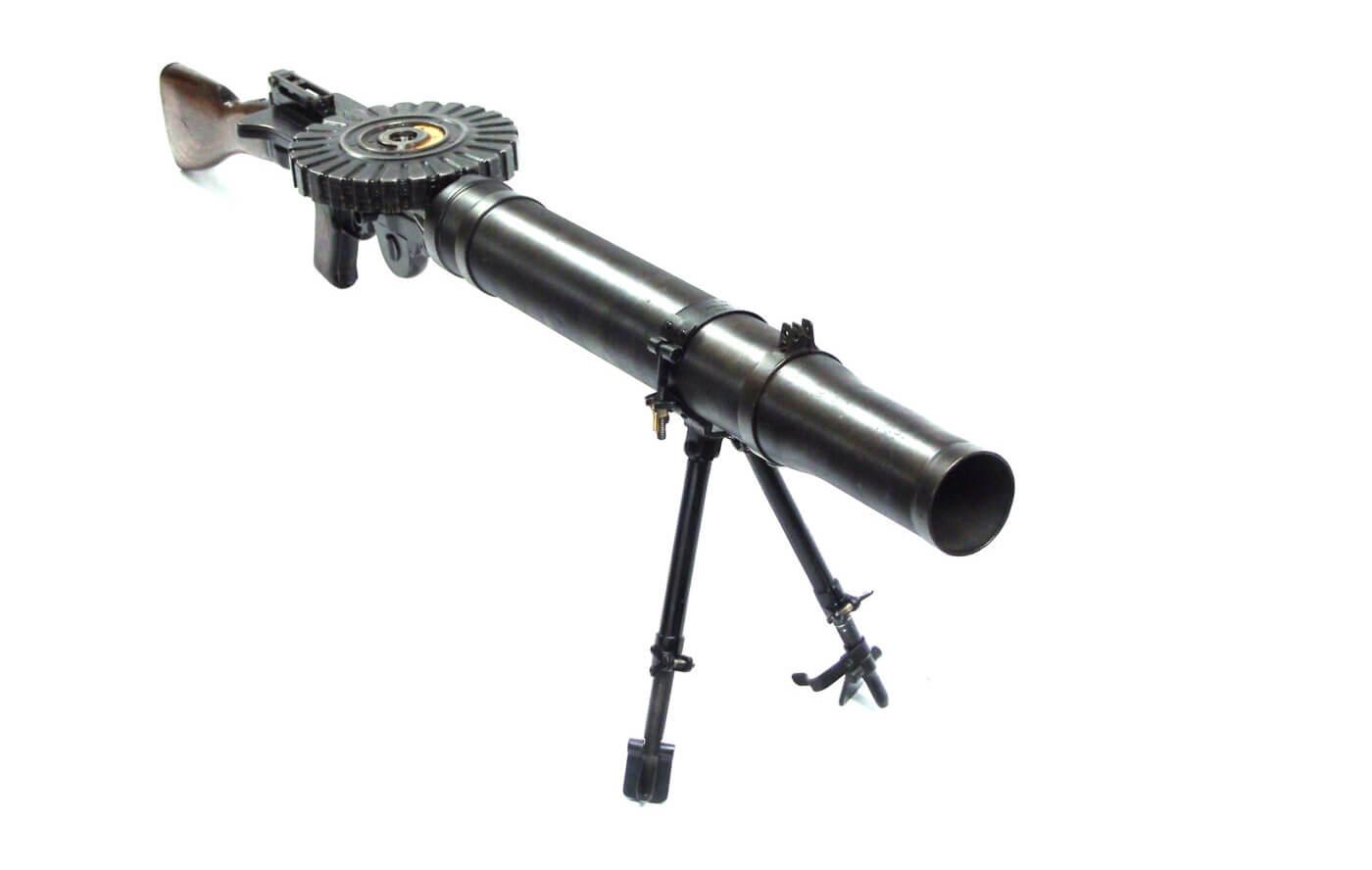 Lewis Gun with bipod