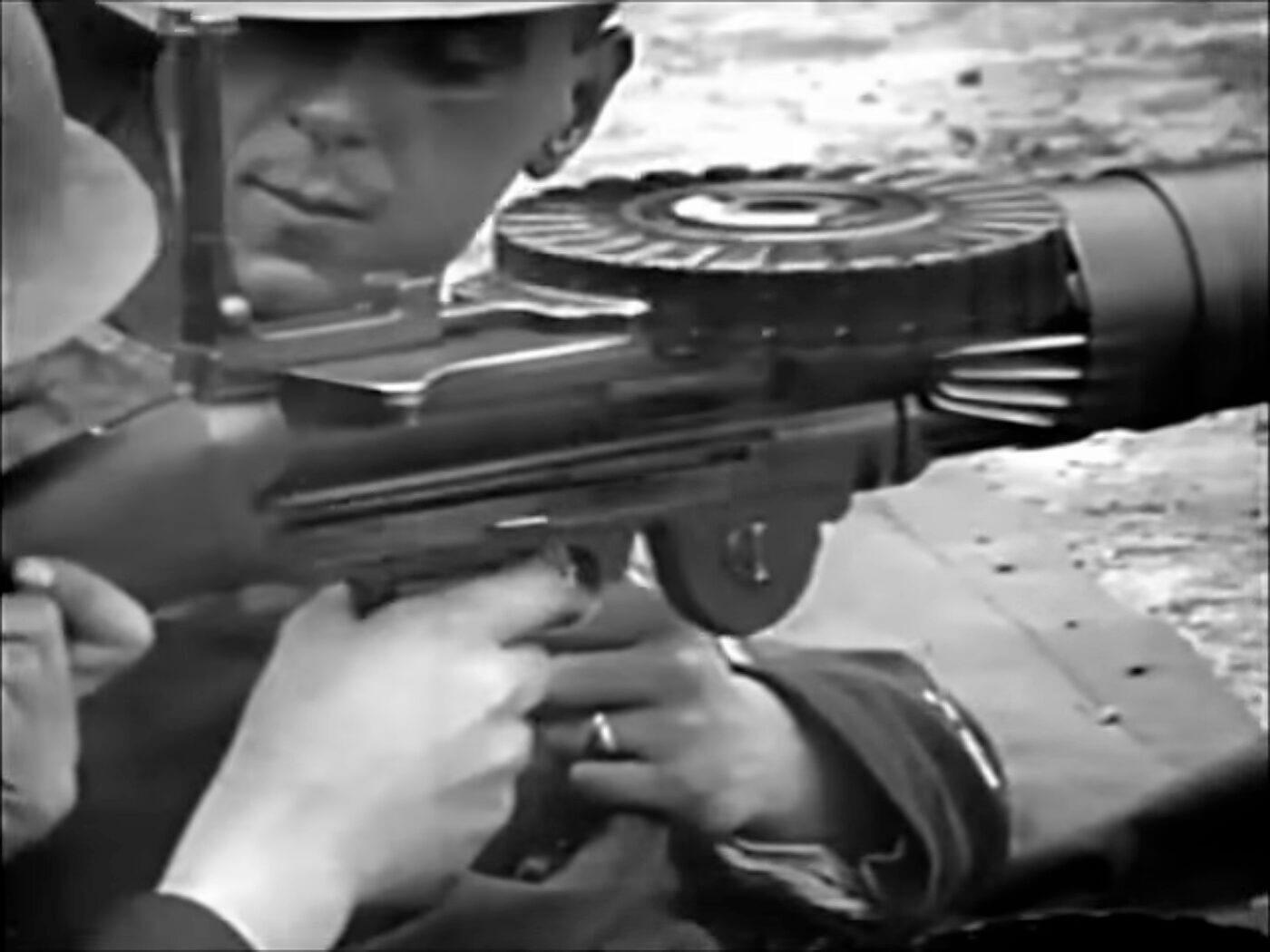 Lewis Machine Gun detail in movie