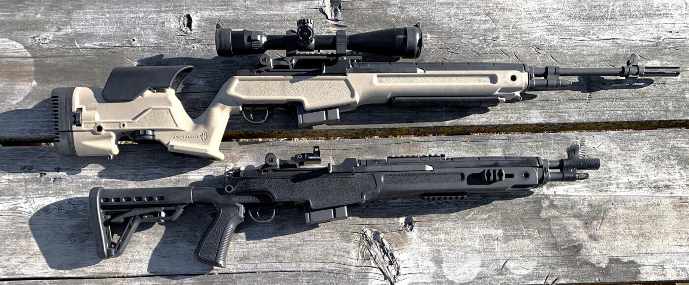 M1A SOCOM 16 CQB and M1A Loaded Precision rifles