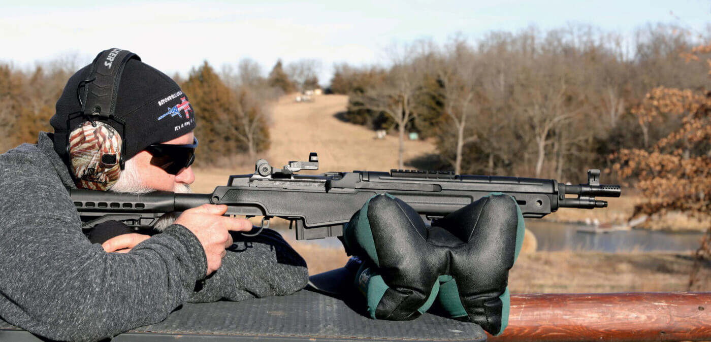 Shooting the M1A SOCOM 16 CQB from a bench