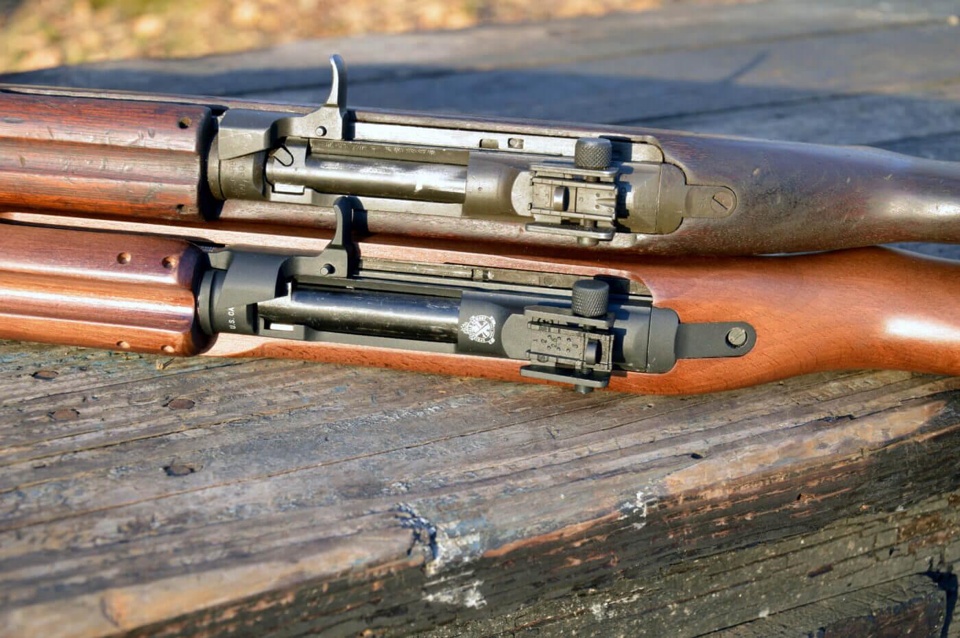 Action comparison of M1 Carbine and M1 Carbine BB gun