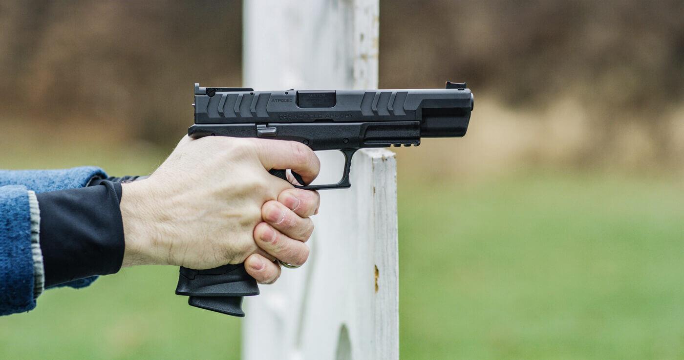"Shooting the Springfield XD-M Elite 5.25"" 9mm pistol"