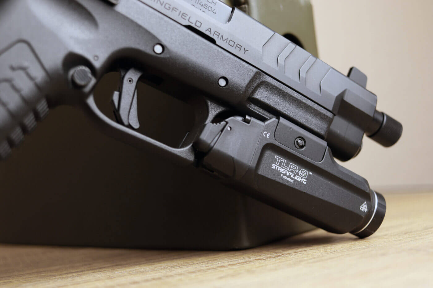Streamlight TLR-9 on Springfield Armory pistol