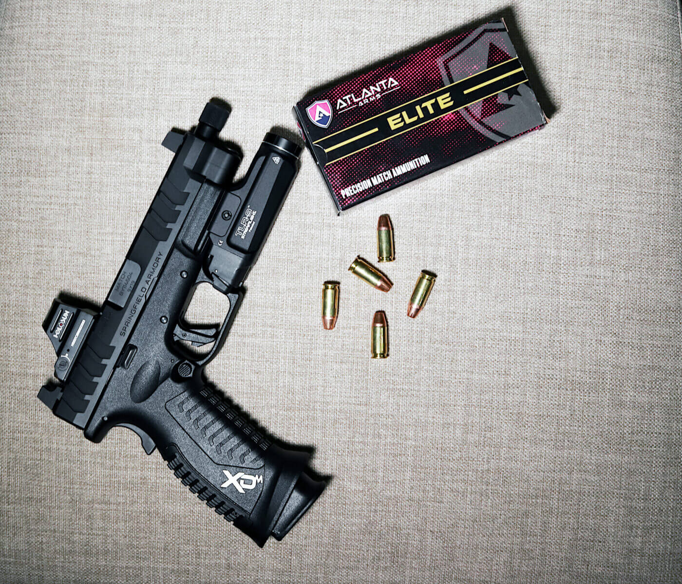 Atlanta Arms Match 9mm ammo in Springfield Armory XD-M Elite OSP pistol
