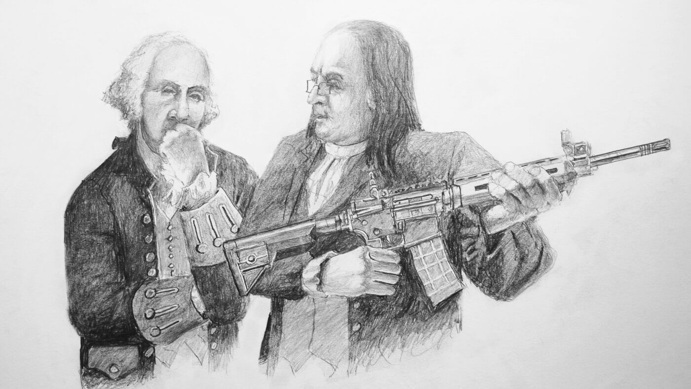 Assault weapon held by founding fathers