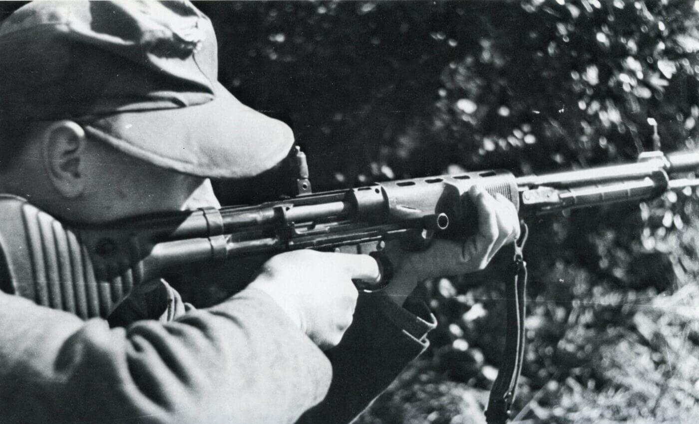 Fallschirmjagergewehr 42 in action