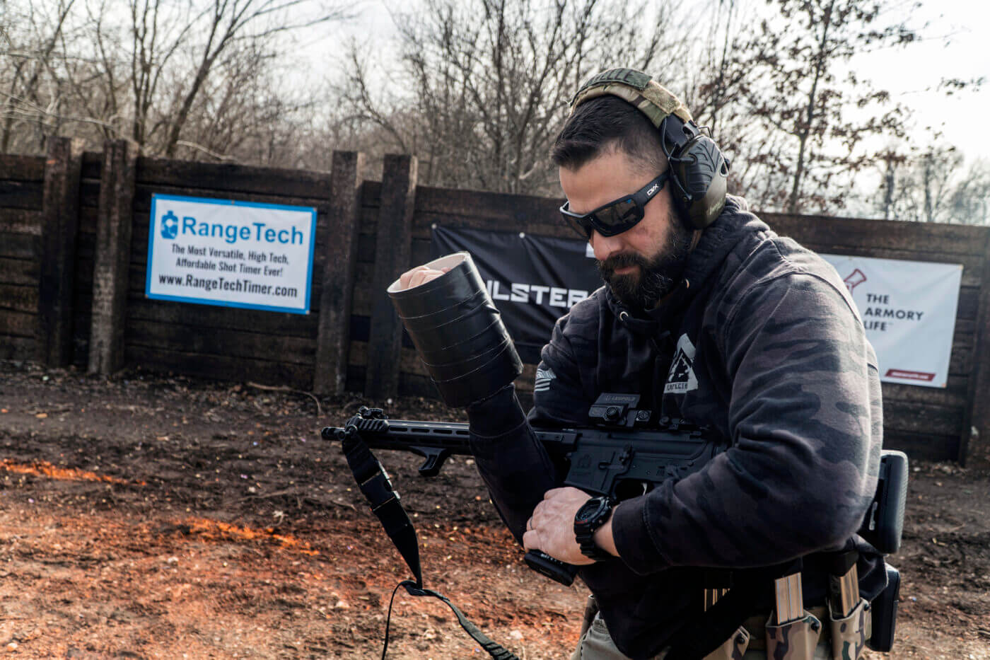 Shooting an AR-15 with one hand