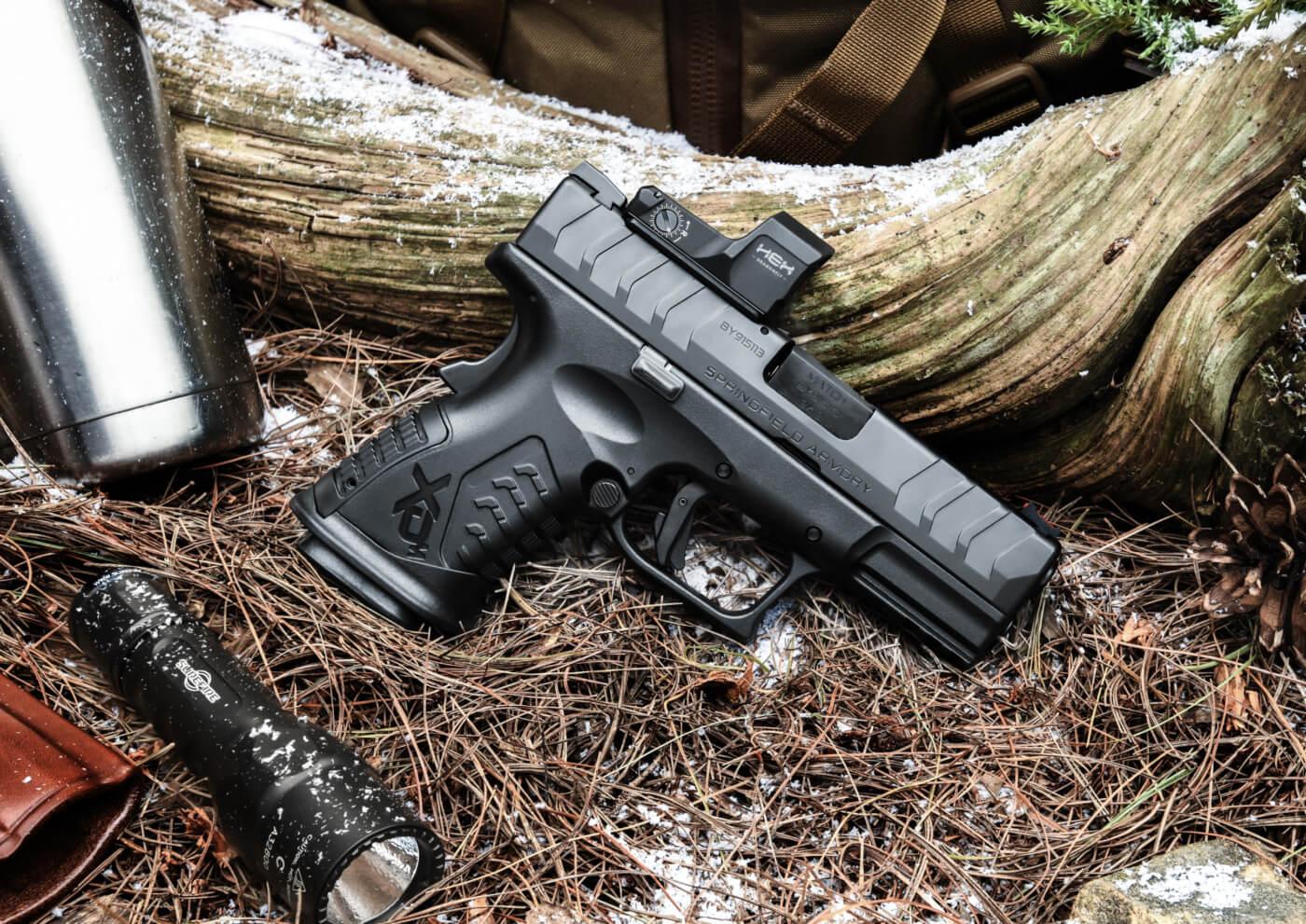 "Springfield Armory XD-M Elite 3.8"" Compact OSP pistol with flashlight"