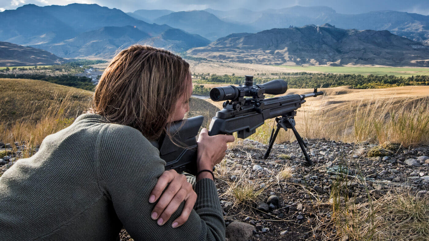 M1A rifle fired by woman