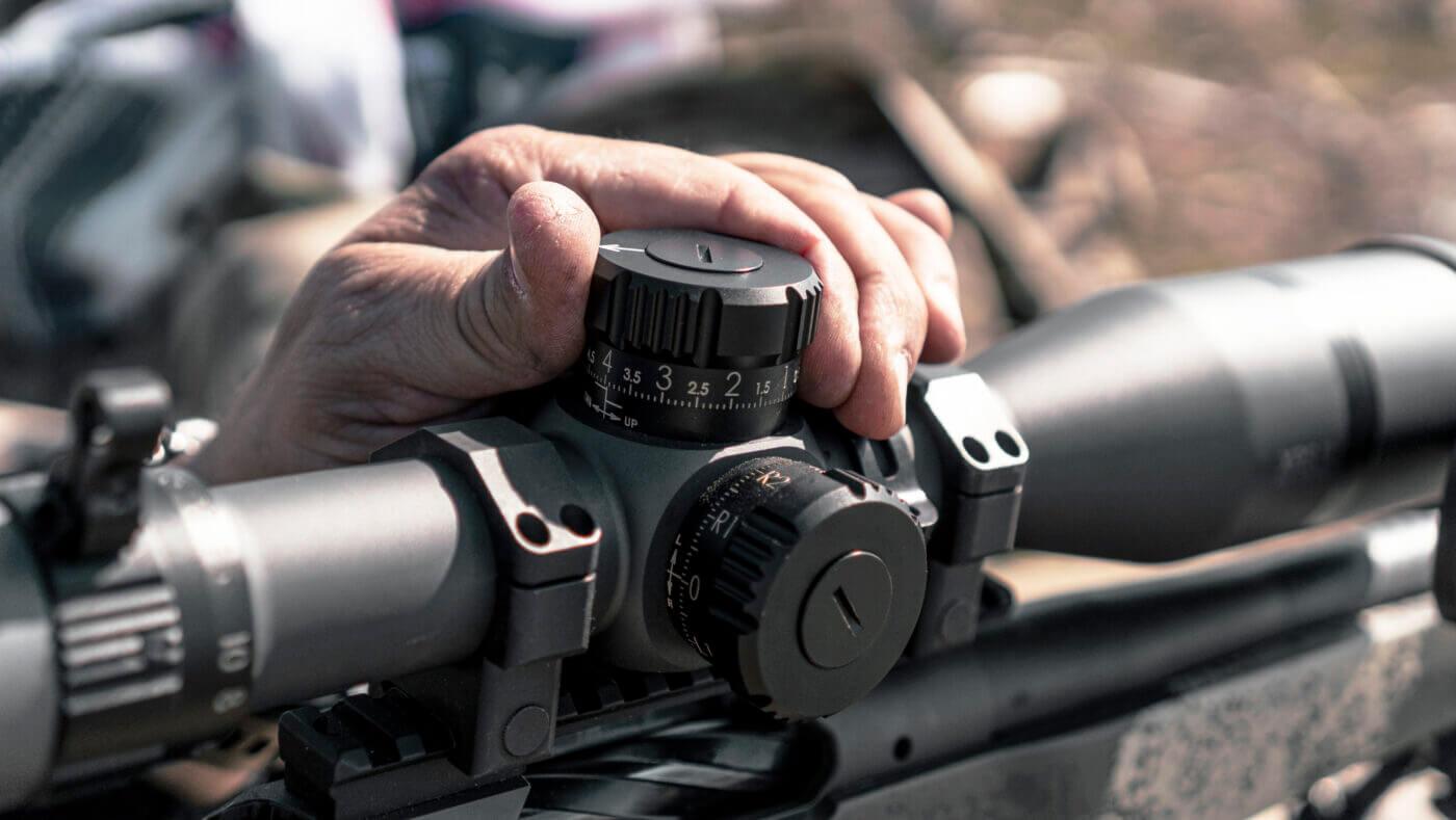 Adjustment knobs on Bushnell Elite Tactical XRS II scope