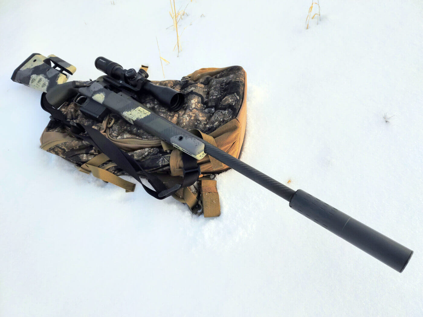 SilencerCo Hybrid 46 suppressor on Waypoint rifle