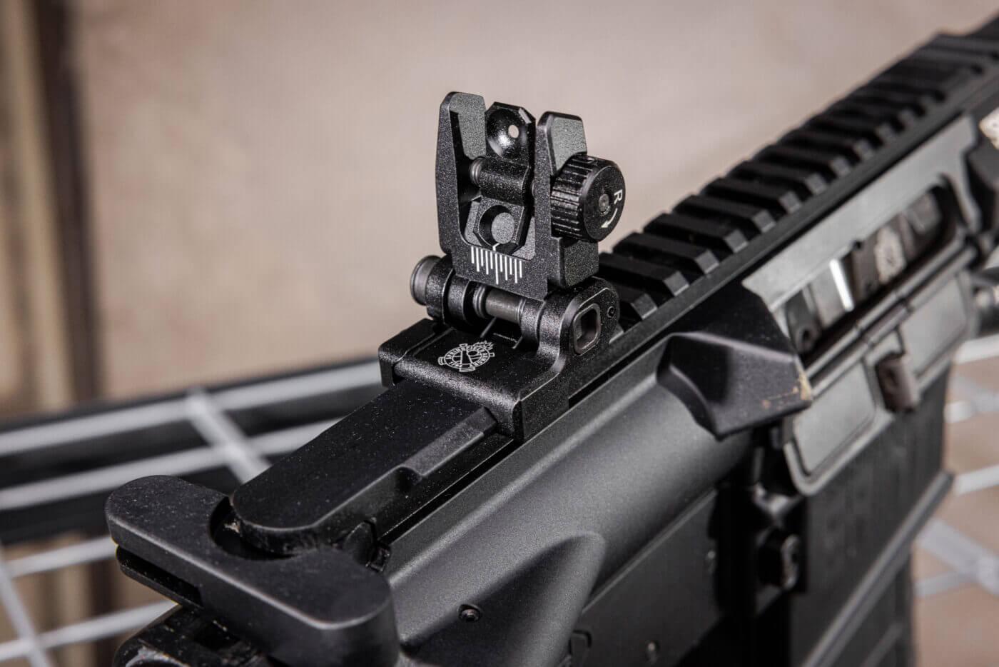 SAINT Victor rifle .308 rear sight