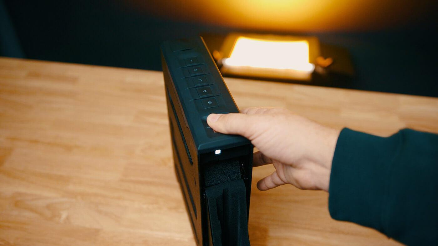 Using a Vaultek fingerprint reader